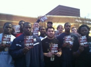 Wingate Football with bibles